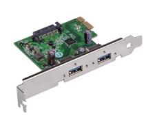 USB 3.0 PCIe 2.0 x 1 2 Port Card, #34-213