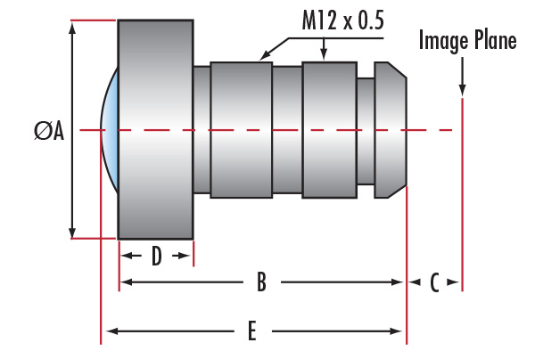 Infinite Conjugate M12 Imaging Lenses