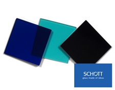 SCHOTT Colored Glass Bandpass Filters with SCHOTT glass types for us in UV, visible, and NIR are available at Edmund Optics!