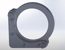 #15-868, 75.0/76.2mm Optic Dia., E-Series Kinematic Mount